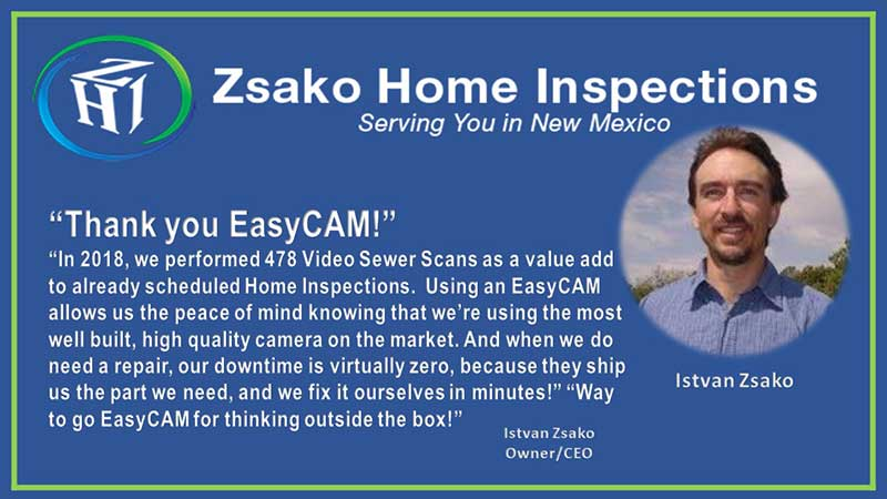 EasyCAM Sewer Cam Testimonial