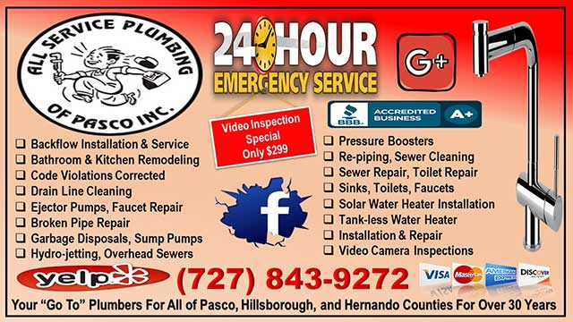 All Service Plumbing of Pasco Inc. - Florida
